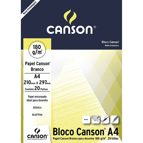 Canson A4 para Cianotipia 180g - Branco 20fls
