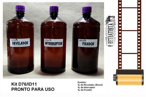 Kit Revelador Filme Fotográfico P&B- 1L (Pronto para uso) D76/ID11