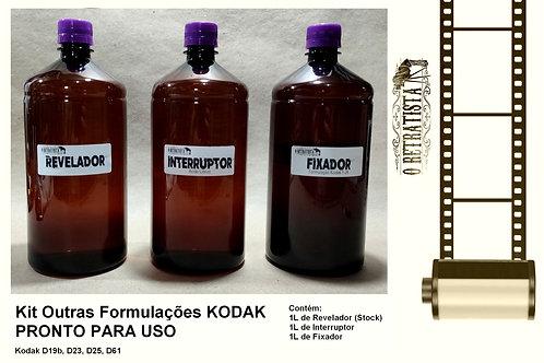Kit Revelador PB Kodak Form.  D19b, D23, D25, D61 - 1L (Pronto P/ Uso)