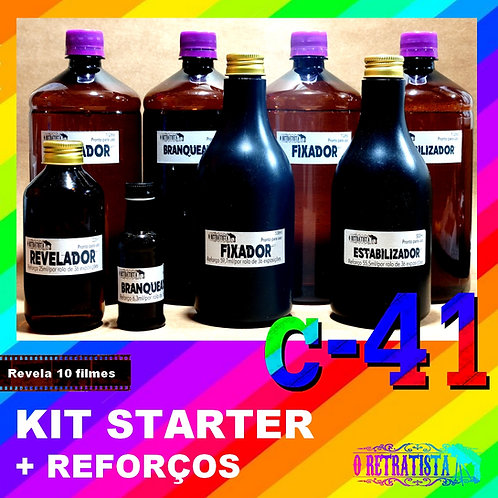 Revelador Colorido - C41 - Kit Starter + Reforços (Total 10 revelações)