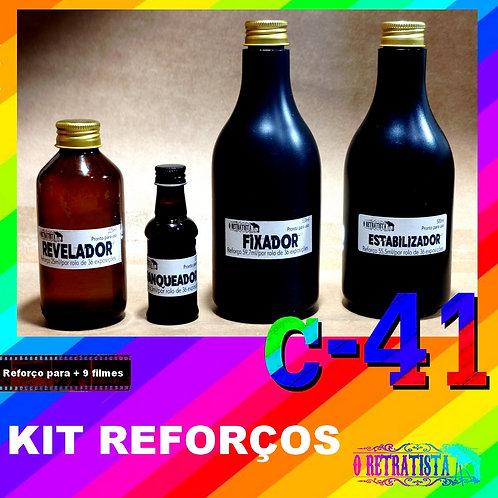 Revelador para películas coloridas - processo C41.  Kit Reforço - Para 9 filmes.