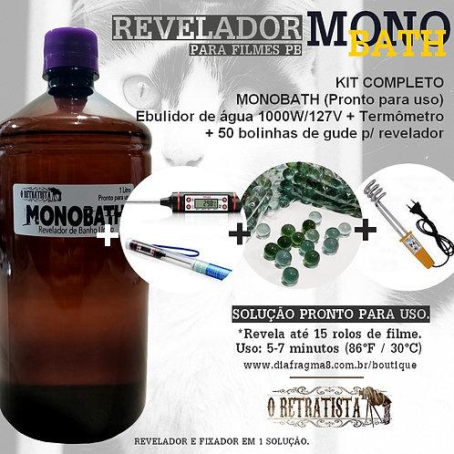 Kit Revelador MONOBATH Filme Fotográfico P&B 1L (Pronto para uso) + Suprimentos