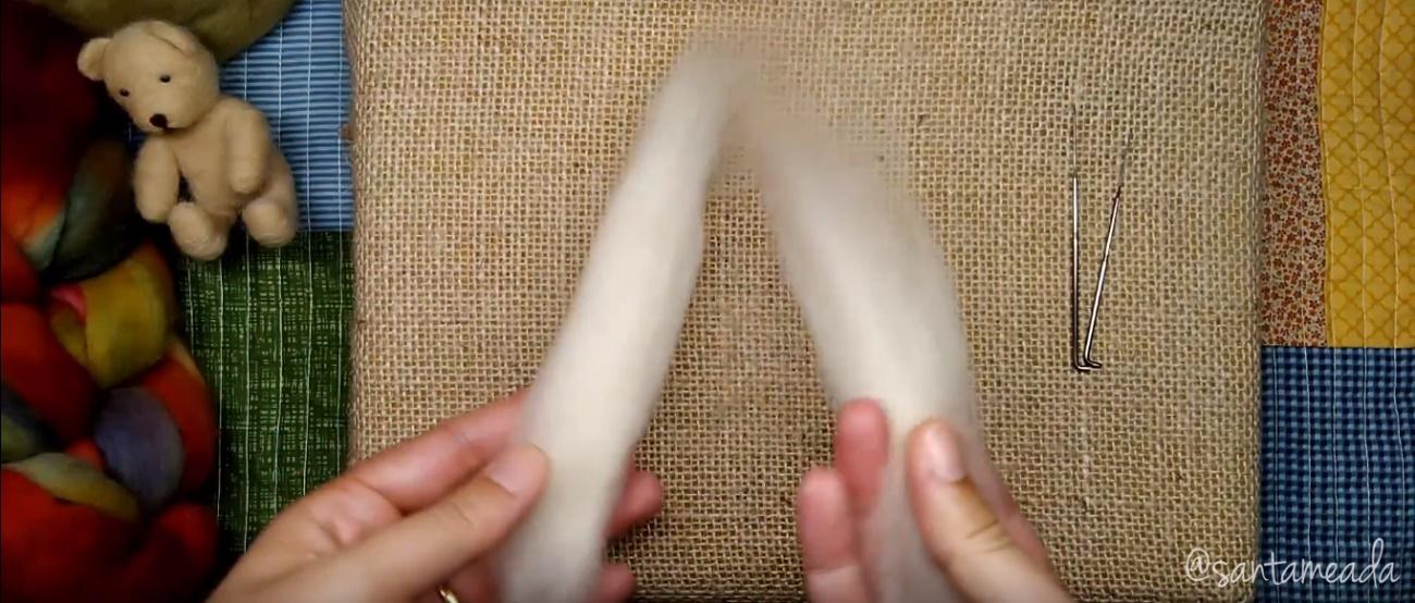 lã corriedale para feltragem