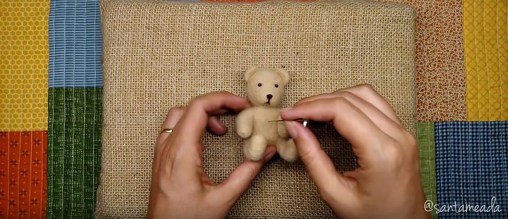 feltragem com agulha (needle Felting) - agulha fina para acabamento ursinho de lã feltrado