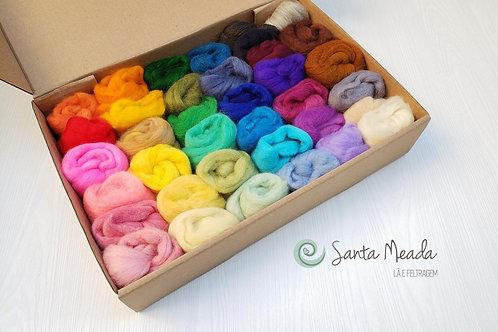 Lã para Feltragem com 38 cores 456g (12g cada meada)