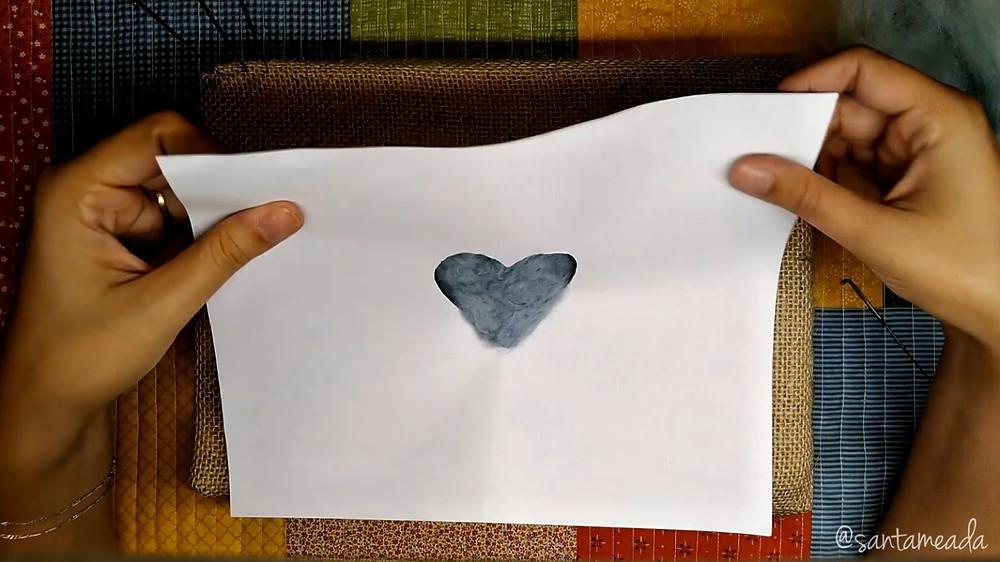 molde de coração para feltragem