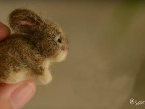 Coelhinho de Lã: aprenda a fazer um mini coelhinho de lã com a técnica de feltragem com agulha