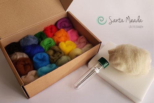 Kit Básico - mini meadas - 20 cores