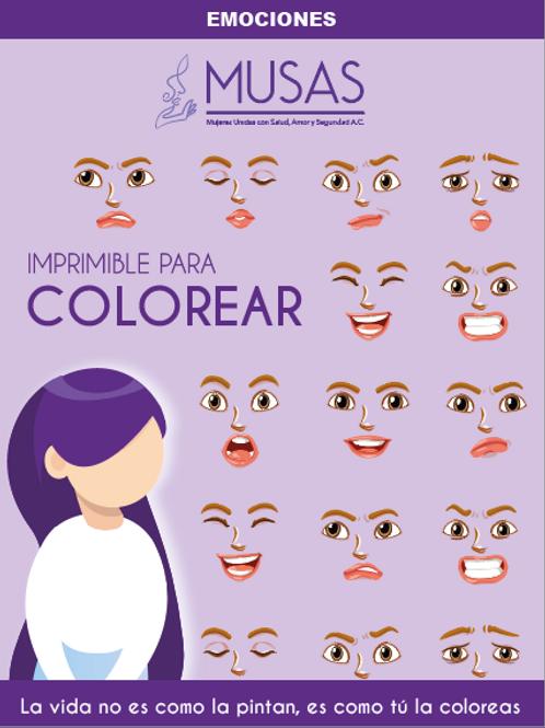 Imprimible para colorear Emociones