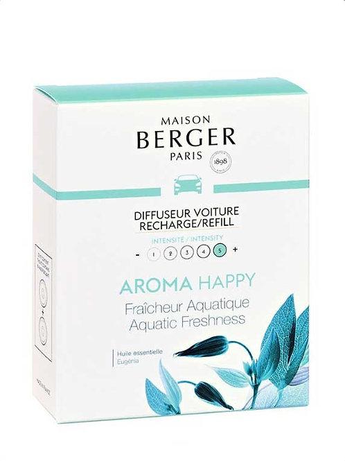 MAISON BERGER Nachfüllpack für Autodiffusor Aroma Happy Aquatische Frische