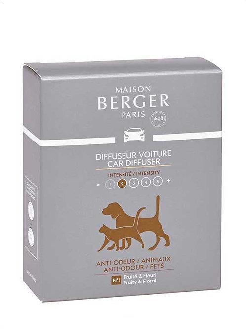 MAISON BERGER Nachfüllpack für Autodiffusor Anti Tiergerüche fruchtig und blumig