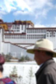 Pilgrims before Portola Palace.JPG