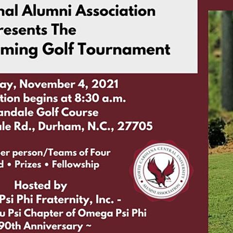 NCCU National Alumni Association Presents The 2021 Homecoming Golf Tournament