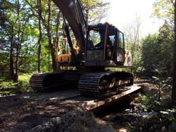 bridge for 30 tonne excav
