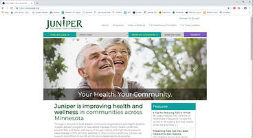 yourjuniper.org website screenshot