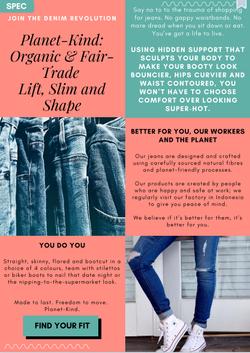 SPEC - Sales page for ladies jeans
