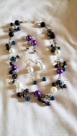 Purple/black/blue beads