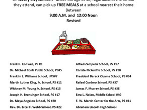 JERSEY CITY PUBLIC SCHOOLS FREE MEALS PROGRAM UPDATE: MARCH 16, 2020