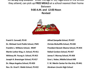 JERSEY CITY PUBLIC SCHOOLS FREE MEALS PROGRAM MARCH 16, 2020 UPDATE