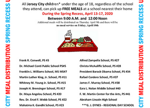 JERSEY CITY FREE MEALS PROGRAM SPRING RECESS UPDATE: APRIL 8, 2020