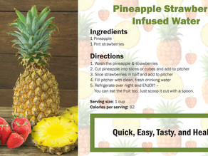 Pineapple Strawberry Infused Water