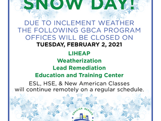 SNOW DAY! February 2, 2021