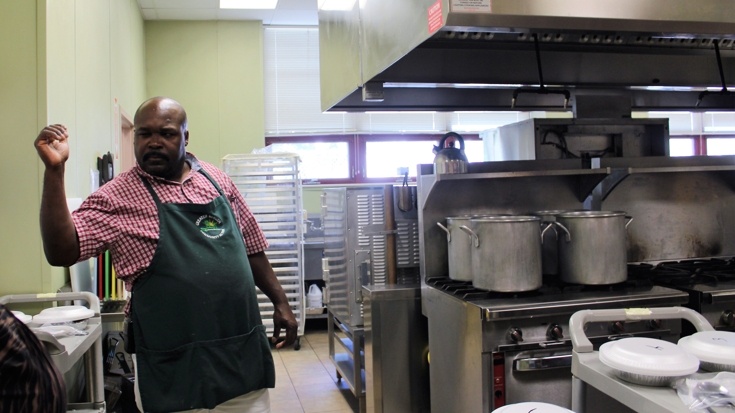 Troy Greer prepares the kids meals