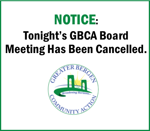 Notice: Tonight's GBCA Board Meeting has been cancelled.