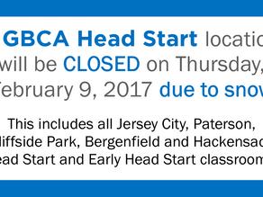 ALL GBCA Head Start Locations Closed Thursday