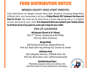 GBCA Bergen County Head Start Food Distribution Notice MARCH 18, 2020