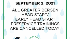 9/2/21: PRESERVICE CANCELLED
