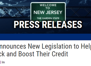 Gottheimer Announces New Legislation to Help Jersey Families Check and Boost Their Credit