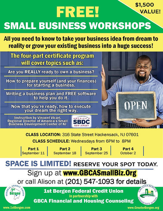 small business workshop classes sept oct