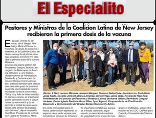 Pastores y Ministros de la Coalicion Latina de New Jersey recibieron la primera dosis de la vacuna