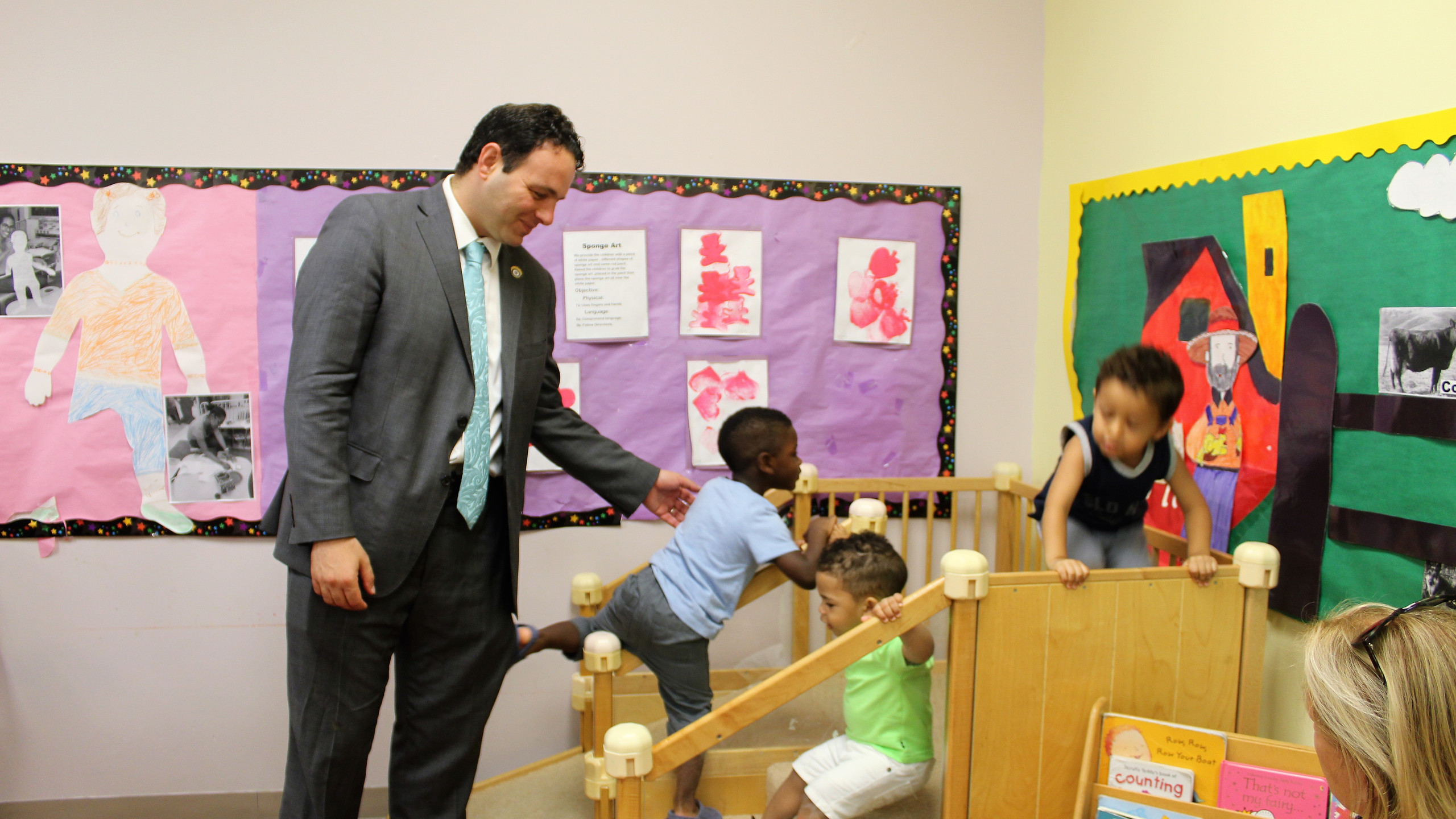Andre Sayegh in Head Start Classroom