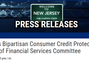 Gottheimer's Bipartisan Consumer Credit Protection Bill Passes Out of Financial Services Committee