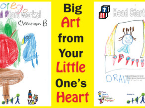Big Art From Your Little One's Heart
