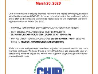 CHIP CORONAVIRUS RESPONSE - March 20, 2020