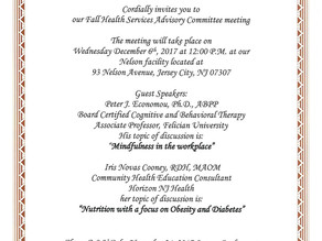 Head Start Fall Health Services Advisory Committee Meeting