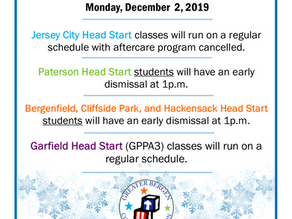Head Start Closings 12/2/19