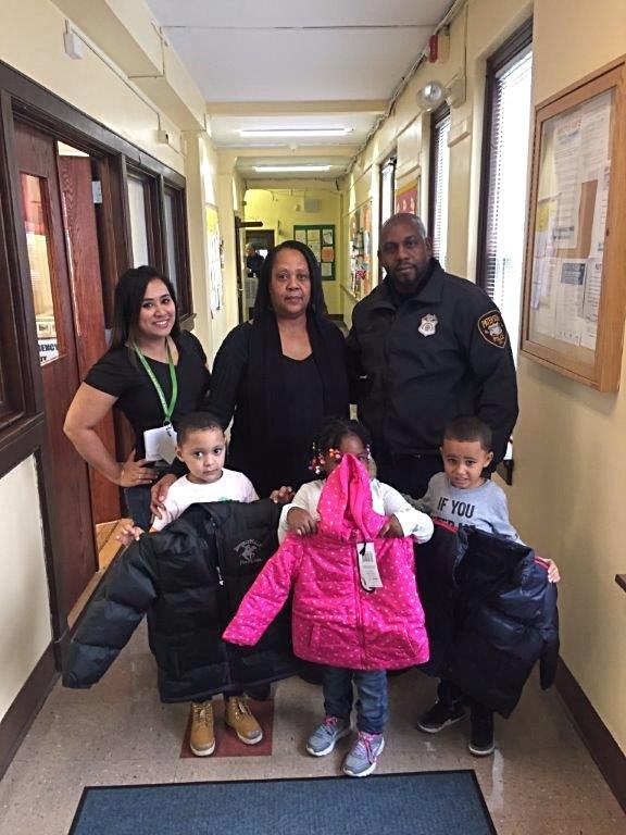 Head Start Children with their new coats