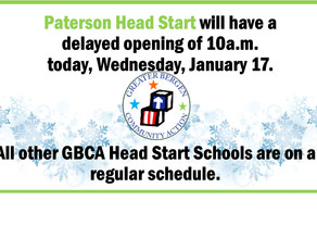 Delayed Opening for Paterson Head Start Today