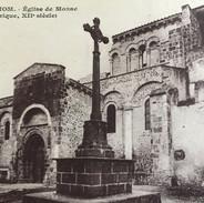 Carte postale ancienne de l'église de Mozac