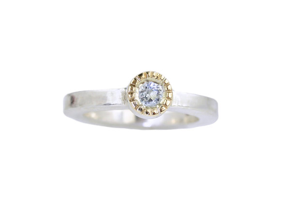 topaz stacker ring