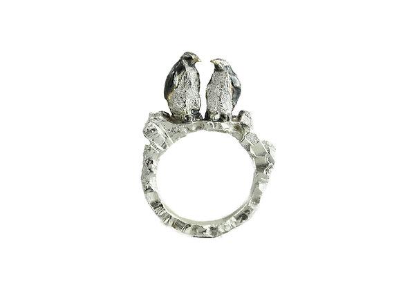 sparkling penguin ring
