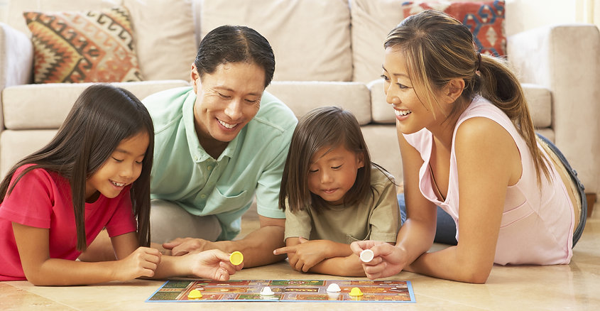 family enjoying purified indoor air