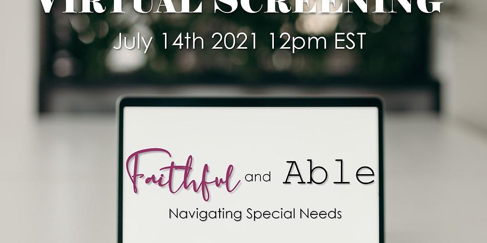 Virtual Faithful and Able Screening