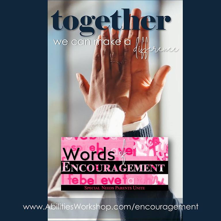 Words of Encouragement Kick Start