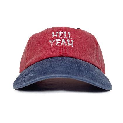 CAMILLO HELLYEAH 2TONE DAD CAP <RED>