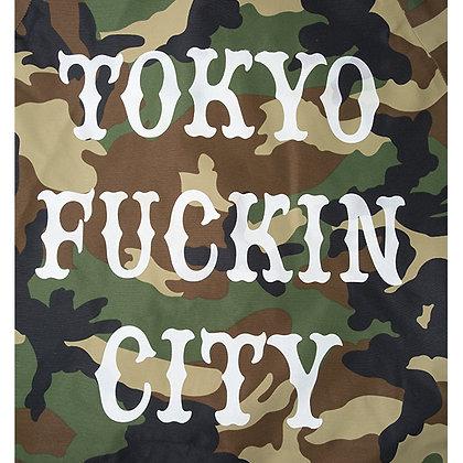 CAMILLO TOKYO FUCKIN CITY Nylon bonded Jacket <WOODLAND>